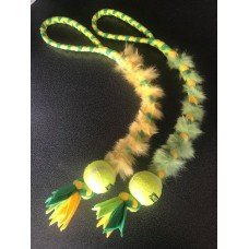 Tennis Ball Tuggy with Rabbit Skin